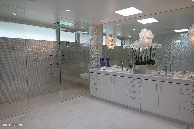 Mozaika Szklana Damasco Oro Bianco Biała Srebrna Silver
