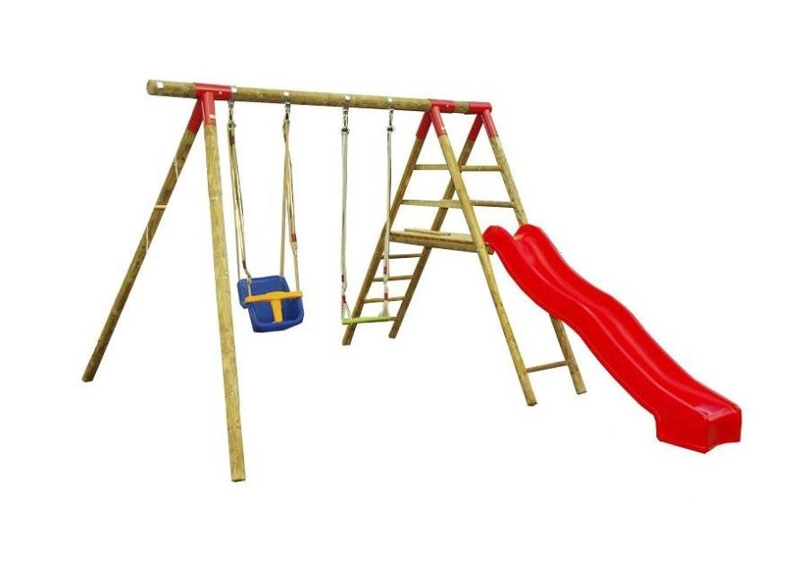 drewniany plac zabaw hu tawka zje d alnia dla dziecka. Black Bedroom Furniture Sets. Home Design Ideas