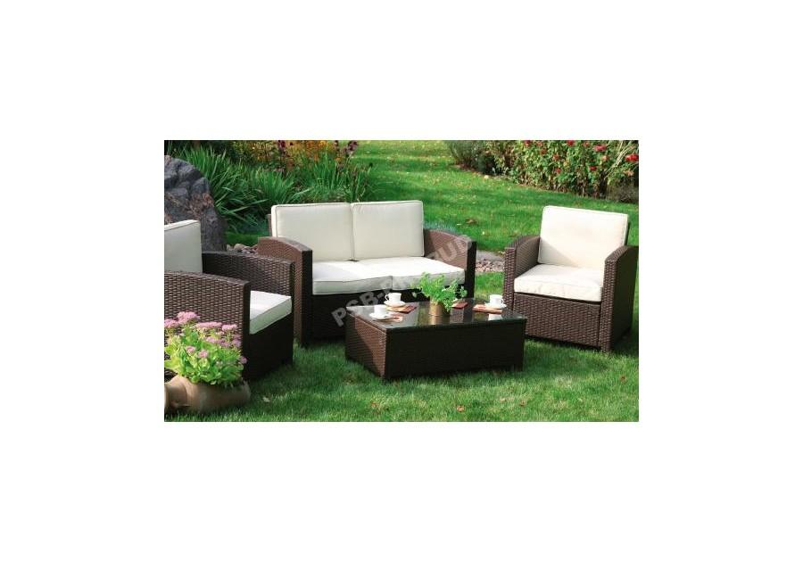 Meble Ogrodowe Rattanowe Corfu Technorattan : Meble ogrodowe BORNEO zestaw ogrodowy stół kanapa fotele [R
