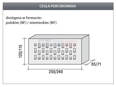 Crh Cegla Klinkierowa Cherry Perforowana