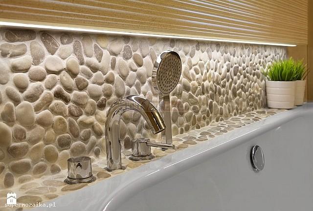 Mozaika Kamienna Otoczaki Biała Kolo 1